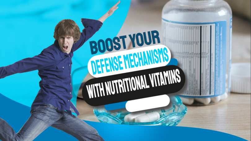 "Text in image: ""Boost defence mechanisms with nutritional vitamins""."