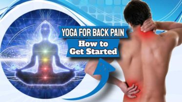 """Image text: """"Yoga for Back Pain How to Start""""."""