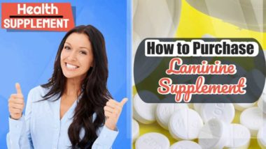 "Text: ""How to purchase laminine health supplement""."