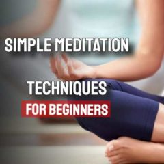 "Image text: ""Simple meditation techniques for beginners""."