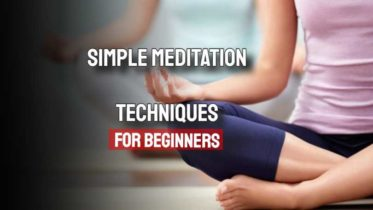 """Image text: """"Simple meditation techniques for beginners""""."""