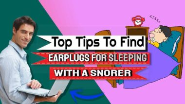 "Featured image: ""Earplugs for sleeping with a snorer""."