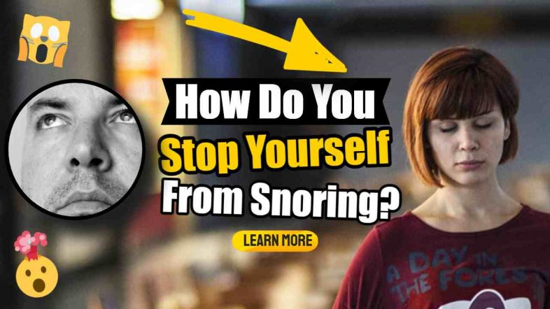 """Image text: """"How stop yourself from snoring""""."""