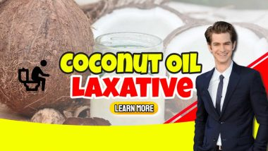 """Image text: """"Coconut oil laxative""""."""